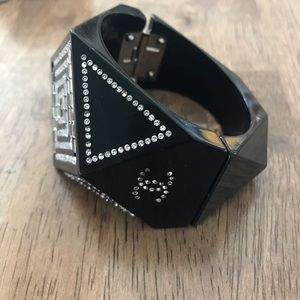 CHANEL Jewelry - Authentic Black Chanel Bracelet- not perfect